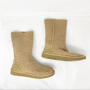 Ugg beige sweater boots size 8
